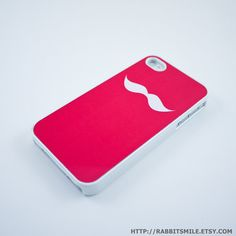 hot pink mustache case - should be easy to find in my purse! - $16