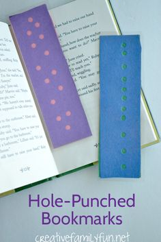 Hole-Punched Bookmarks - A fun kids craft for your little bookworms.