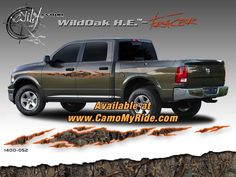 The New Wild Wood Camo Rocker Panel Accent, Body Graphics, Bed Band, Window Graphics and more only at www.CamoMyRide.com