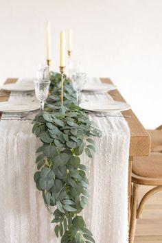 Eucalyptus Centerpiece, Greenery Centerpiece, Greenery Garland, Eucalyptus Garland, Eucalyptus Wedding, Green Centerpieces, Wedding Decorations, Wedding Ideas, Inexpensive Wedding Centerpieces