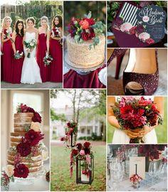 Dekoracje weselne w kolorze wina Czerwone detale ślubnej stylizacji