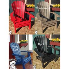 Phat Tommy Recycled Poly Folding Adirondack Chair
