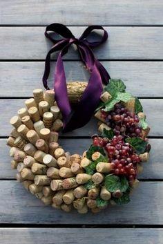 Cork & grape wreath for wine lovers by savannah
