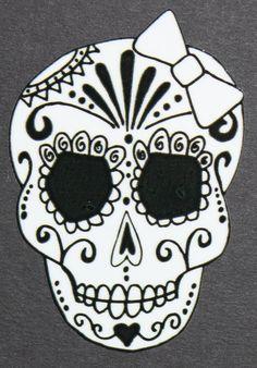 Day of the Dead Girl Sugar Skull Sticker