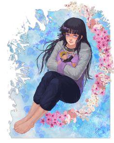 Naruto Series, Hinata Hyuga, Fan Art, Gallery, Artist, Anime, Shadows, Princess, Board