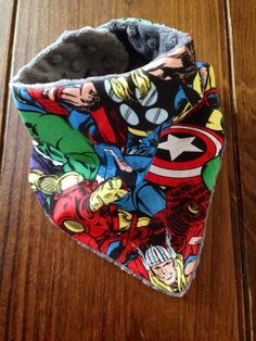 Avengers Drooly Bandana Bib by DresPlace on Etsy, $9.50