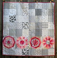 WQ Snowball baby quilt