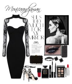 """""""Lady in black#2"""" by xpinksparkelx ❤ liked on Polyvore featuring Rika, Gucci, NARS Cosmetics, Dolce&Gabbana, Lord & Berry, Bobbi Brown Cosmetics, Givenchy, Elie Saab, Casetify and Bliss Diamond"""