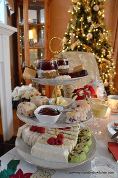 The Christmas Poinsettia Afternoon Tea - My Island Bistro Kitchen Christmas Afternoon Tea, Christmas Tea Party, Afternoon Tea Parties, Holiday, Tea Sandwiches, Winter Tea Party, Tea Tray, Tea Recipes, Tapas