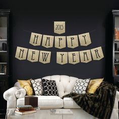 Throwing a glamorous New Years Eve party? Get the party started with this popular and sophisticated gold glitter banner! Use as a photo prop