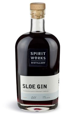 Spirit Works Distillery Sloe Gin---awesome full-flavored artisanal small batch sloe gin liqueur. Embedded image permalink