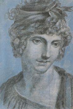Portrait de Madame Aubry, future Olympe de Gouges, (1784, aquarelle, musée Carnavalet) (7 mai 1748, Montauban - 3 novembre 1793, Paris)