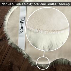 My Comfy Zone Sheepskin Faux Fur Chair Cover/Rug/Seat Pad/Area Rugs for Bedroom Sofa Floor Vanity Nursery Decor Ivory and White x (White)
