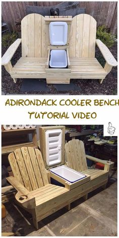 DIY outdoor seating projects tutorials & free plansDIY Outdoor Seating Projects Tutorials - Instructions for the DIY Adirondack Cooler DIY outdoor projects to beautify your garden - the wooden DIY outdoor projects to