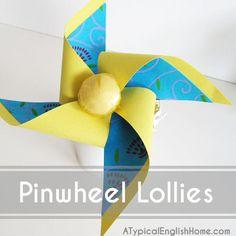 Pinwheel Lollipops