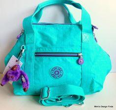 KIPLING ART U Tote Satchel *NEW* Cool Turquoise &Contrast Travel Bag HB7018 NWT  #Kipling #TotesShoppers