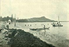Waikiki with Diamond Head in the background ca1921
