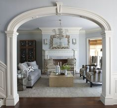 Beautiful archway.  South Shore Decorating Blog: 50 Favorites For Friday (#47)