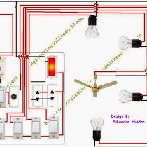 Two way light switch diagram or staircase lighting wiring diagram.
