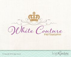 Premade Crown Logo  White Couture  Royal  Logo for by LogoCouture