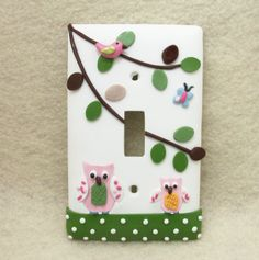 Owl Light switch cover -