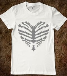 Skeleton Heart - Phantastique Boutique - Skreened T-shirts, Organic Shirts, Hoodies, Kids Tees, Baby One-Pieces and Tote Bags