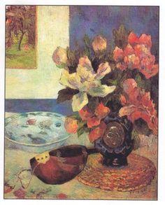 Still Life with Mandolin - Gauguin - Stickvorlage Cross Stitch C