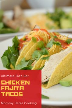 Get ready for Cinco de Mayo with these Chicken Fajita Tacos plus a delicious Taco Bar! It's the perfect way to celebrate with Stand N Stuff Tacos! Best Chicken Recipes, Best Dinner Recipes, Best Dessert Recipes, Mexican Food Recipes, Desserts, Dinner Dishes, Food Dishes, Easy Healthy Recipes, Yummy Recipes