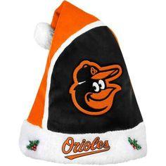Forever Collectibles MLB 2015 Santa Hat, Baltimore Orioles, Orange