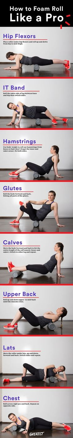 Want to improve flexibility, performance, and reduce injuries? Get to know the foam roller. #fitness greatist.com... http://greatist.comfitness/how-foam-roll-pro?utm_content=buffer609bb&utm_medium=social&utm_source=pinterest.com&utm_campaign=buffer