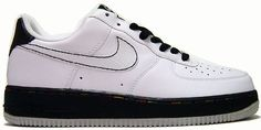 My favorite pair of 1's. Nike Air Force 1 Low White/White-Black-Metallic Silver