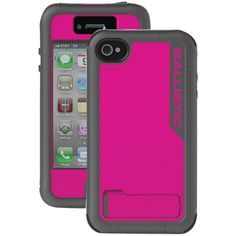Ballistic Iphone 4 And 4s Every1 Case (raspberry Pink And Charcoal Gray)
