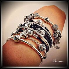 Pandora ..charms are all black, white and silver