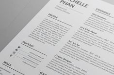 Simple and Clean Resume/CV template to help you land that great job. All artwork and text is fully customisable; Easily edit the typography, wording, colors and layout. Each template uses a strong baseline/document grid which will allow you to edit or add to the layout very easily. Resume Layout, Resume Cv, Cv Design, Resume Design, Cover Letter For Resume, Cover Letter Template, Modern Resume Template, Resume Templates, Cv Simple