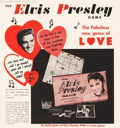 Vintage Board Game Elvis Presley Game 1957