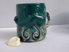 Octopus Squid Tentacles Mug Handmade Ceramic by CreativityHappens