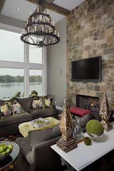 Brown Couch Gray Walls Design, Pictures, Remodel, Decor and Ideas - page 2