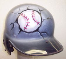 airbrushed baseball helmets youth | ... airbrushed batting helmet with name custom airbrushed batting helmet