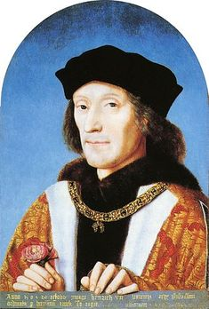 King Henry VII.jpg 1485-1509. Last King to win throne by battle (from Edward IV, nephew of Richard III). Henry VIII's Father.