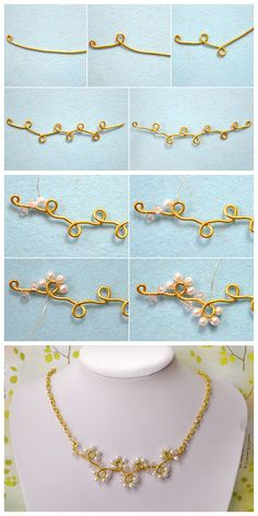 Jewelry Making Tips Design on How to Make a with Beads. Jewelry Making Tips Design on How to Make a with Beads Handmade Wire Jewelry, Wire Wrapped Jewelry, Beaded Jewelry, Homemade Jewelry, Jewelry Making Tutorials, Jewelry Stand, Bijoux Diy, Beads And Wire, Jewelry Patterns