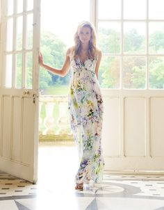 Floral Silk Maternity Maxi Dress | Seraphine @the2654project Somethings like this for photos?