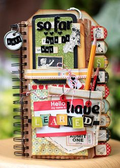 #cover with a pocket for pencils great for a journal #mini