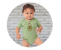 Avocado Baby Shirt Organic Cotton Baby Onepiece Short Sleeve