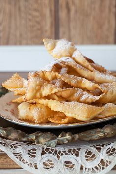 """Russian Monday: """"Khvorost"""" - Sugar-Dusted Fried Pastries at Cooking Melangery Russian Dishes, Russian Desserts, Russian Foods, Russian Pastries, Ukrainian Recipes, Russian Recipes, Croatian Recipes, Hungarian Recipes, Just Desserts"""