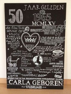 Leuk Cadeau 50 Jaar 50 Jaar Pinterest 50th Birthday Presents