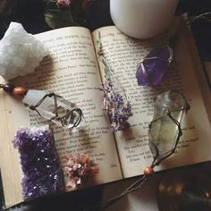 Amethyst - Amethyst   When worn it will alleviate migraines. Nervous headaches soon subside when a geode of an amethyst is placed in the room. It also improves concentration. The stone of Pisces, brings clarity and conscious to the unconscious mind.