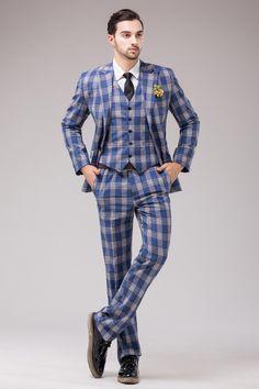 blue tartan suit mens - Google Search | COCKTAIL Dress Code