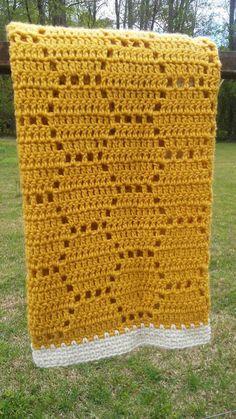 Crochet Bee, Crochet Quilt, Manta Crochet, Filet Crochet, Crochet Blanket Patterns, Baby Blanket Crochet, Knit Rug, Shower Gif, Baby Shower