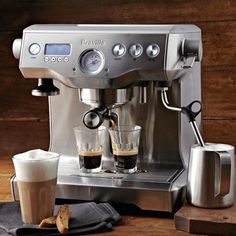 Would love to be able to pull a shot and steam milk at the same time. Breville Dual Boiler Espresso Machine