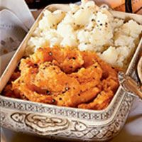 whipped root vegetables and potatoes - Mashed Sweet Potatoes!